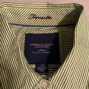 AEO pinstriped blouse